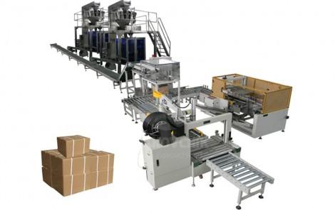 Автоматический комплекс по укладке пакетов в гофрокороба