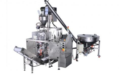 Автомат для упаковки сыпучих пылящих продуктов в пакеты типа «Дой пак»