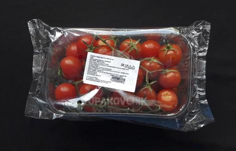 Упаковка помидор черри в коррексе